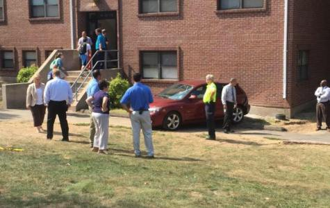 Unmanned car hits Quinnipiac University residence hall