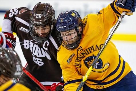 No. 8 Brown stuns No. 1 Quinnipiac, sweeps ECAC Hockey quarterfinals