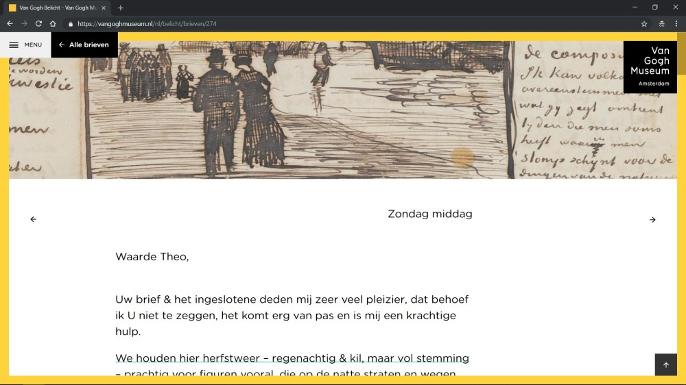Site Web Van Gogh belicht gebouwd porte Q42