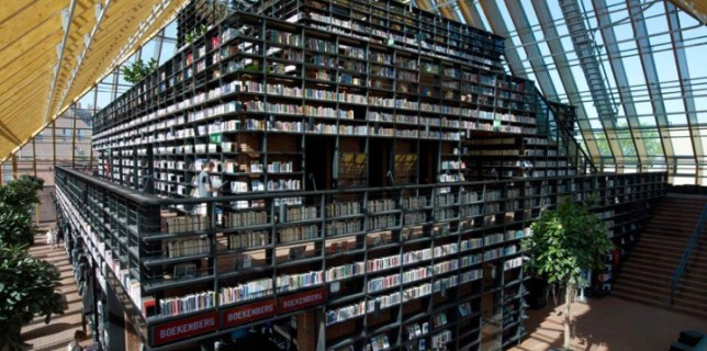 The Book Mountain Library in the Netherlands