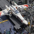 Life-Size Star Wars Lego X-Wing in Times Square