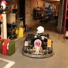 Young Go-kart Driver Amazing Reverse Parking Stunt