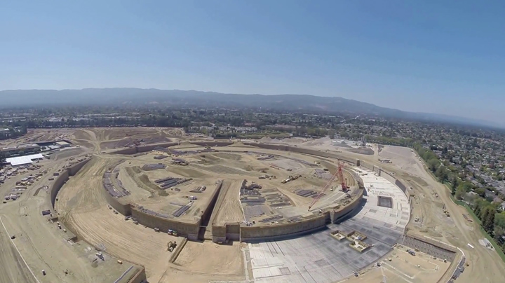 Apple Headquarter Construction Phoro
