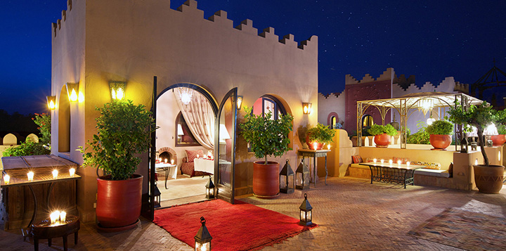 Kasbah Tamadot Private Dining Roof Terrace