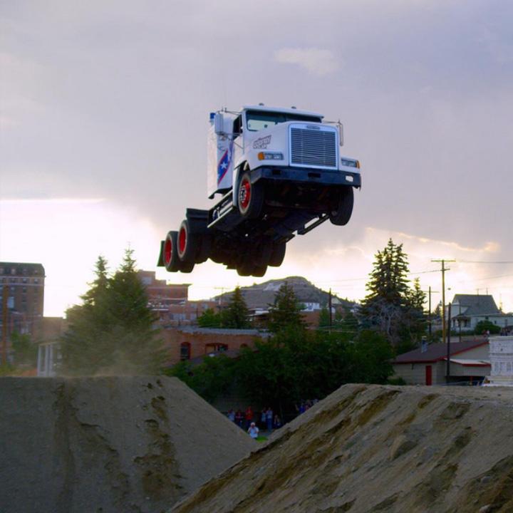 World Record Semi Truck Jump