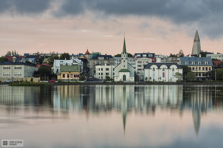 Iceland Houses at River
