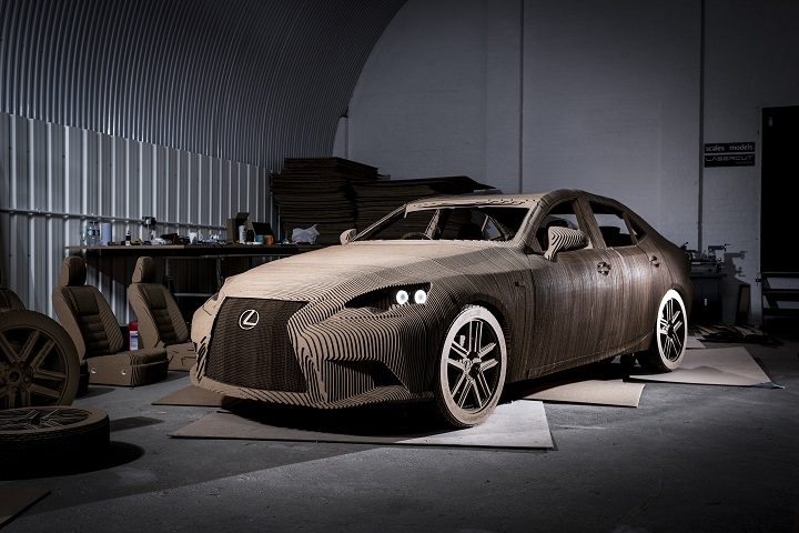 Full Scale Cardboard Lexus Car