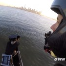JB-9 Jetpack Flying Around Statue of Liberty