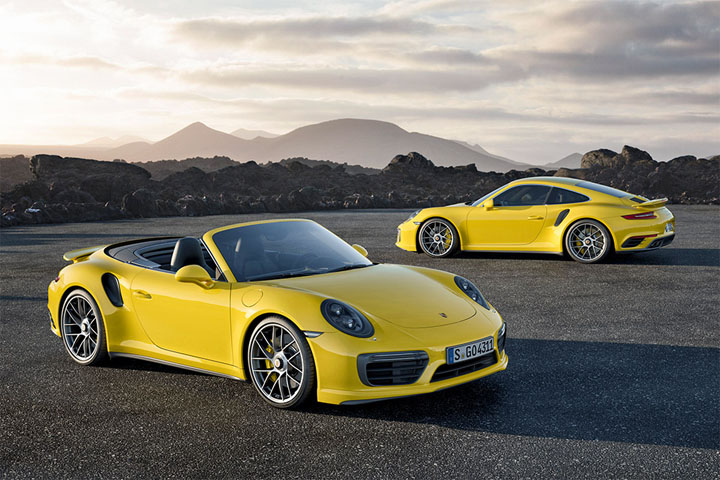 2017 Porsche 911 Turbo S Yellow