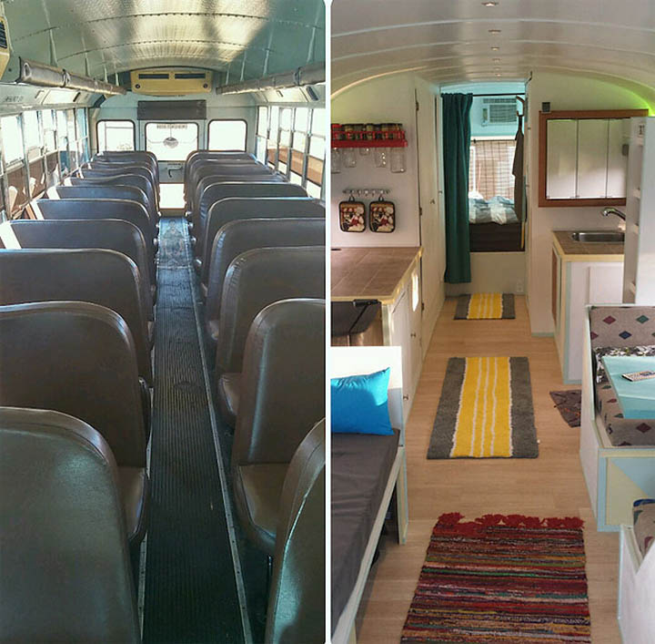 Before And After Bus Conversion