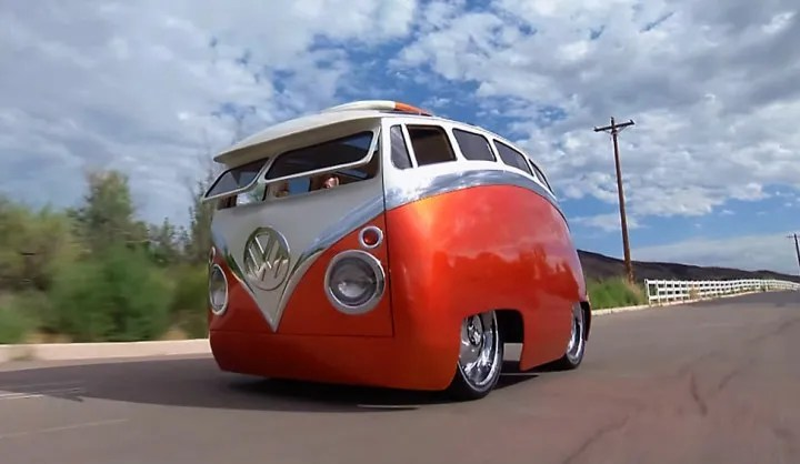 Cartoon Volkswagen Type 2 Bus