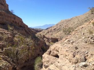 Un paysage lacéré par les forces de la nature