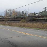 Q SCOOP - Déplacement de l'artillerie militaire américaine à la frontière du Québec.
