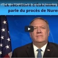 Q VIDEOS - M.POMPÉO parle du procès de Nuremberg pour le 75e anniversaire...
