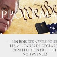 Q SCOOP - Lin Wood: Demande aux militaires de déclarer les élections nulles...