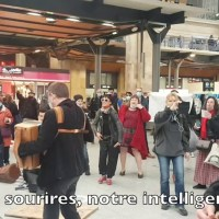 "Q VIDÉOS - ""DANSER ENCORE"" - Flashmob - Gare du Nord - 4 mars 2021."