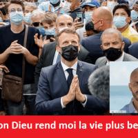"""Q SCOOP - """"Plus belle la vie"""" à Lourde avec E. Macron et David Ban."""