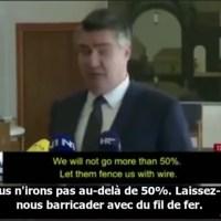 """Le Président de la Croatie refuse de vacciner davantage de citoyens contre la Covid-19. Pour lui, """"Il est tout simplement impossible de mettre ces gens en danger""""."""