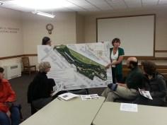 Debbi Frausto, on behalf of FOLK, present a proposal for the North Trail of Lower Kinnear Park