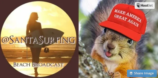Santa Surfing Beach Broadcast QAnon.fun