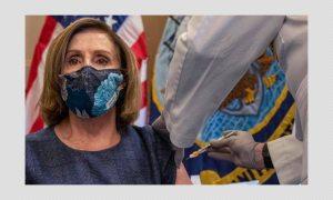 Nancy Pelosi fake jab QAnon.fun