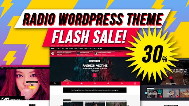 Onair2: Radio Station WordPress Theme With Non-Stop Music Player - 1