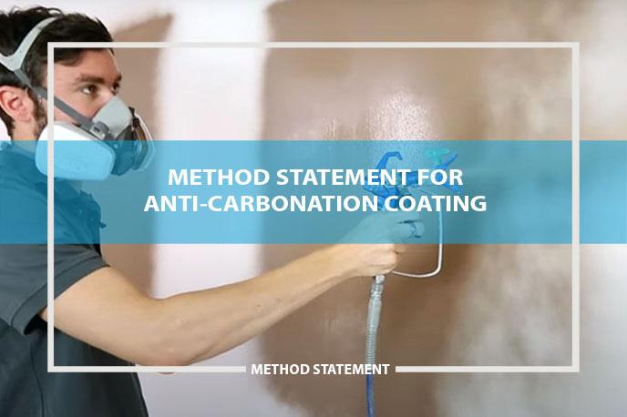 method statement for anti-carbonation paint