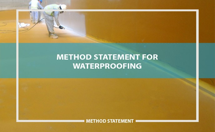 method statement for waterproofing system