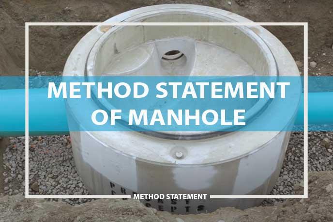 method statement for construction of manhole