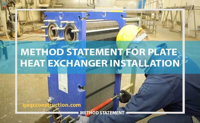 method-statement-plate-heat-exchanger-installation