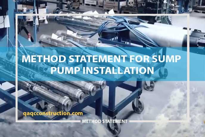 method-statement-sump-pump