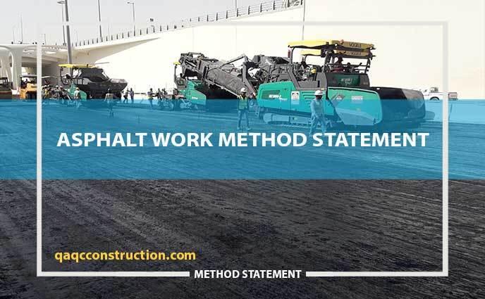 method statement for asphalt work