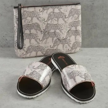 slider   clutch leopard grey