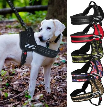 Nylon Work Dogs Harness Multipurpose No Pulling Dog Training Harness Service Pets Vest Heavy Duty For