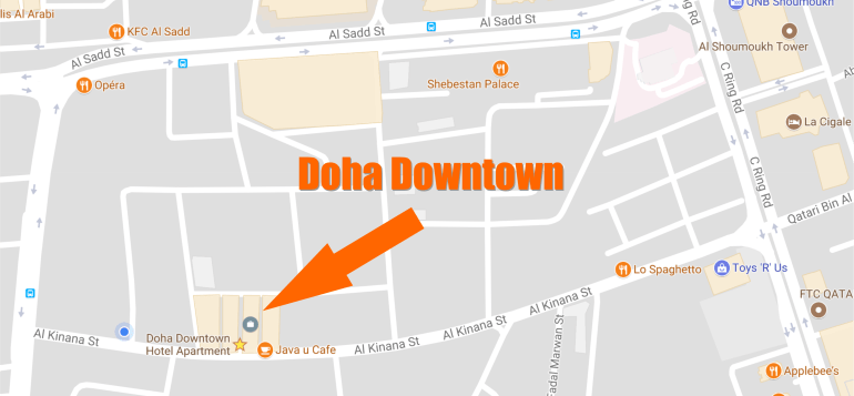 Doha Downtown Map