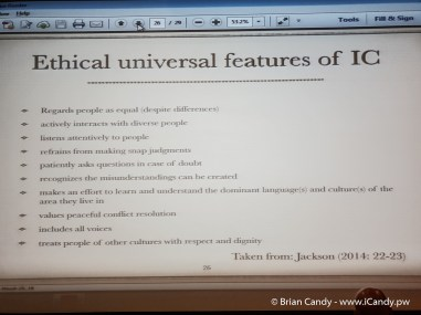 Ethical Universal Features of IC