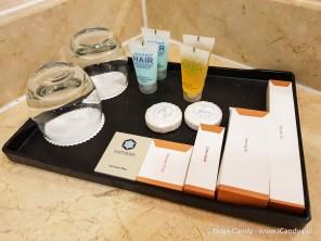 A good selection of Complimentary Bathroom Toiletries