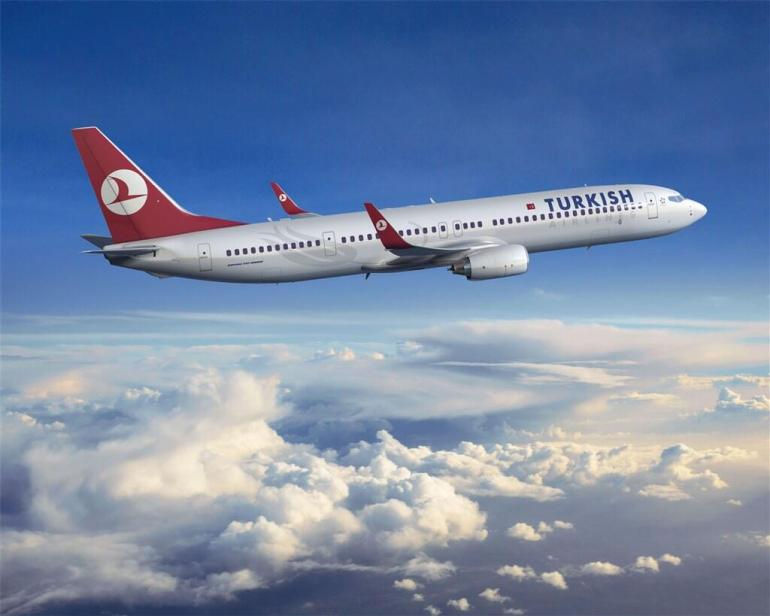 Turkish Airlines plane in air
