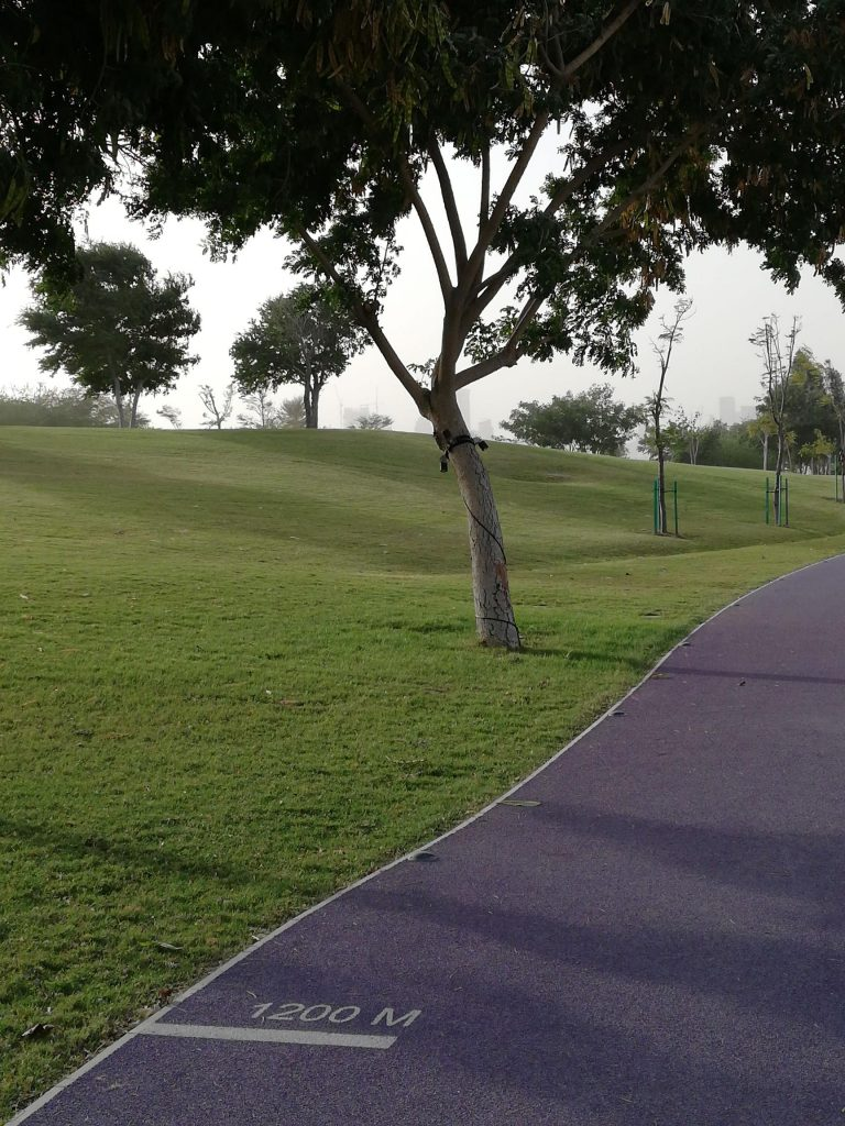 Katara exercise trail with distance markers