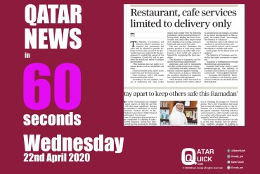 The Qatar News in 60 Seconds – Wednesday 22nd April 2020