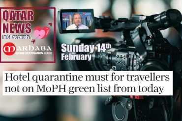 Hotel quarantine for travelers not on MoPH green list