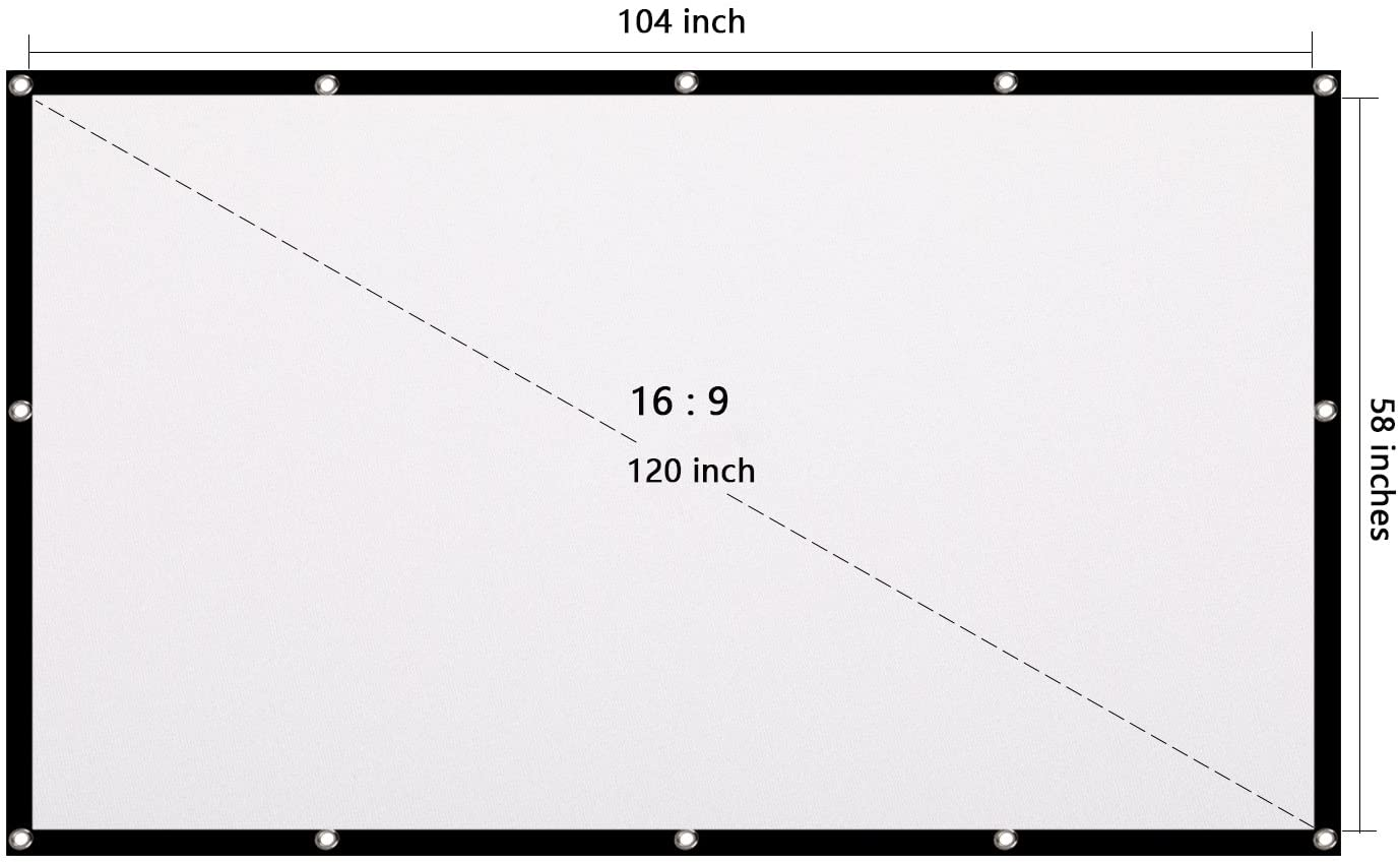 Owlenz 120 Inch Simple Projection Screen 16 9 Portable