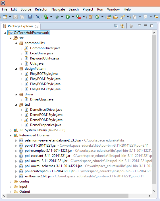 Directory Structure of Hybrid Framework