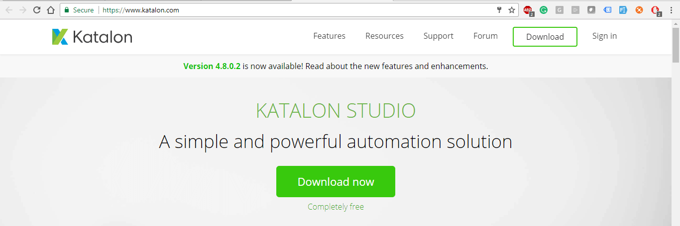 Download Katalon Studio