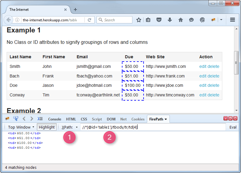 Execute xpath or css on firefox browser - qavalidation