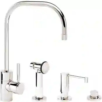 fulton kitchen faucet with side spray soap dispenser and air switch