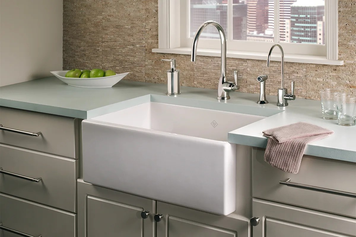 how to repair a scratched fireclay sink