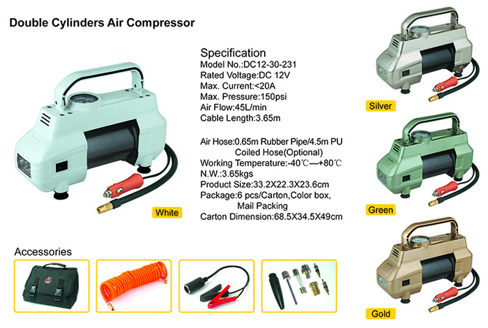 double cylinder compressor info