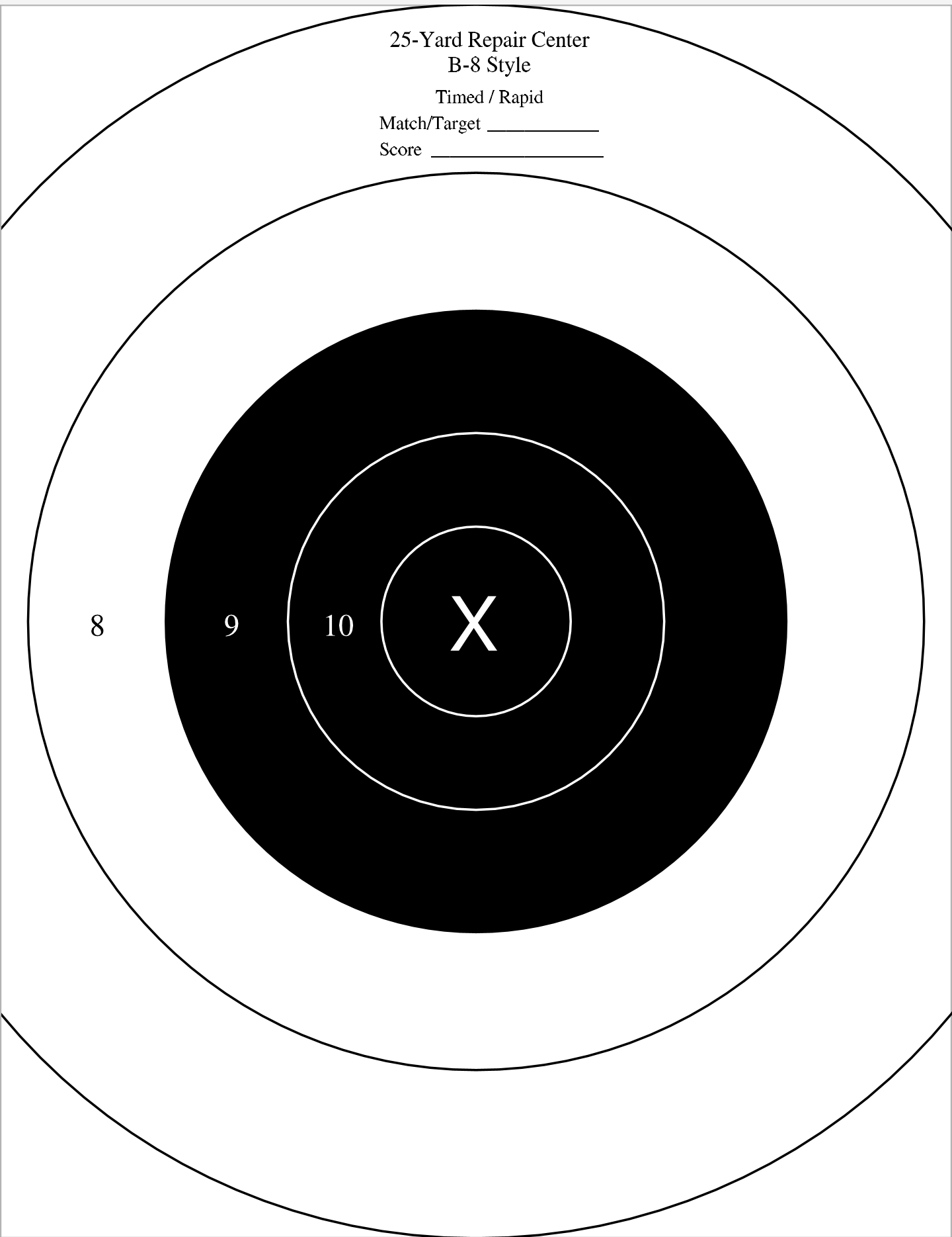 It is a picture of Nra B-8 Target Printable with t rex