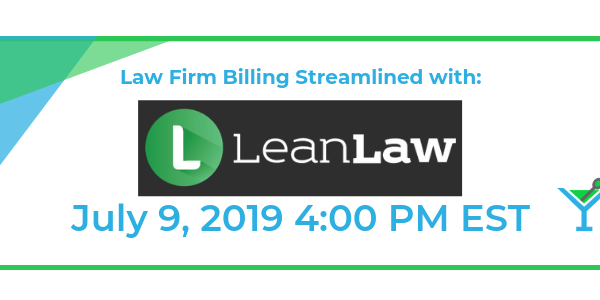 Law Firm Billing Streamlined with: Lean Law